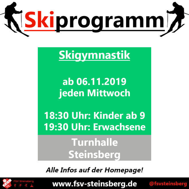 ★★ #FSVSki – Start Skigymnastik am 13.11.19 ★★